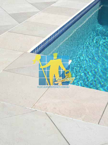 outdoor sandstone tile coping pool snow white