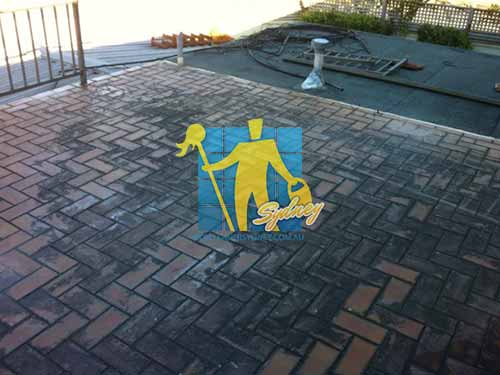 Pavers Tile Before Cleaning