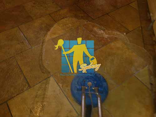 sandstone tiles getting cleaned indoors using sx12 turbo hybrid