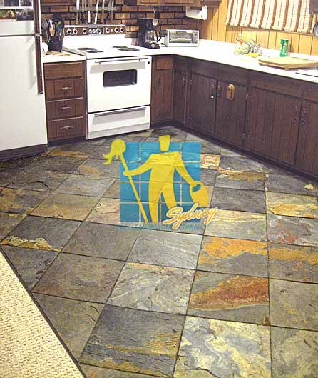 Slate Tile Kitchen Flooring