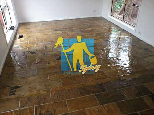 Seal grout tile floor
