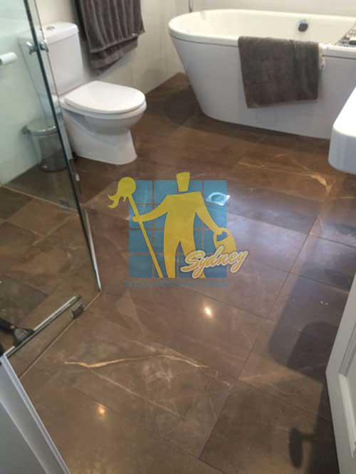 bathroom cleaned granite floor tiles