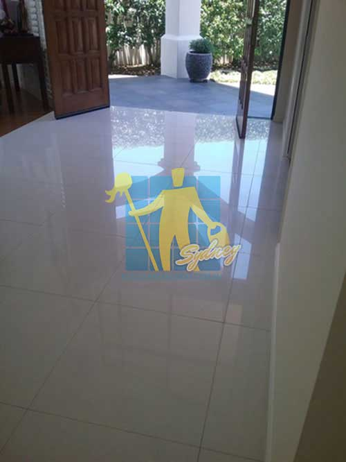 cleaned limestone floor tiles