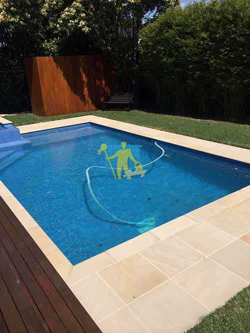 professional cleaned sandstone around pool
