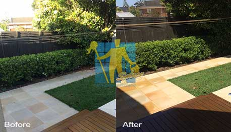 sandstone floor after professional cleaning by tile cleaners Sydney
