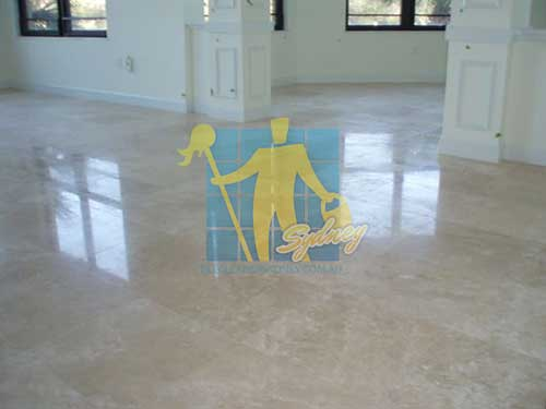 polished travertine floor tile