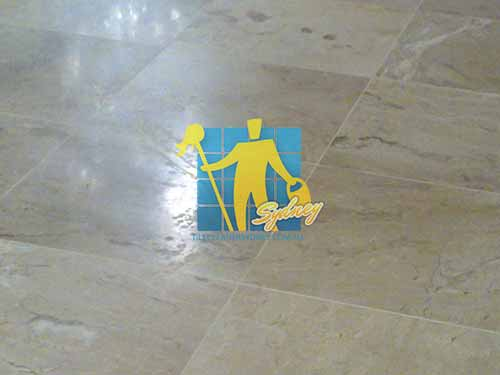 marble tile indoor marks need buffing