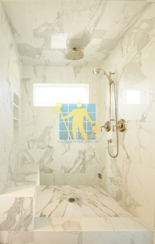 marble_polishing marble tiles shower wall floor calcutta polished luxury bathroom after polishing