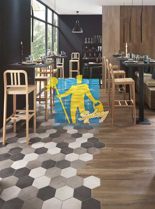 textured timber restaurant floor