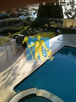 maintenance outdoor limestone tile pool clean