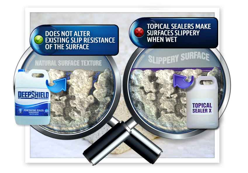difference between topical and deepshield sealers in hospitals grout cleaning