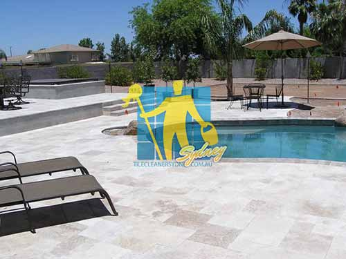 outdoor travertine pavers pool sealing