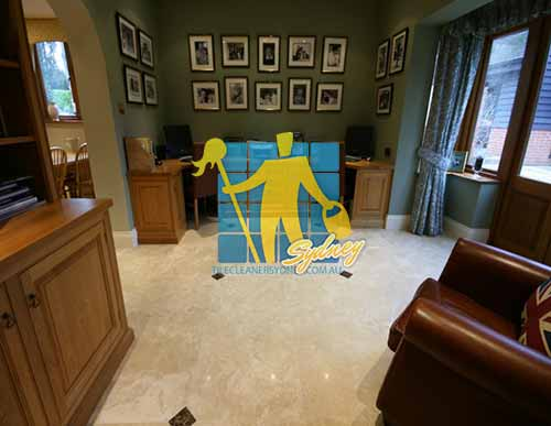 Polished Travertine Stone Tile Floor Sealing Sydney